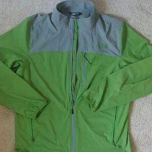 Men's The North Face zip jacket coat large hreen